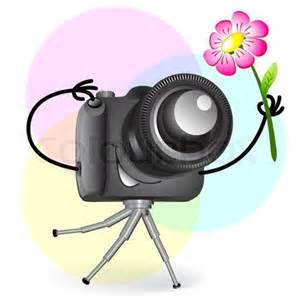 camera with flower